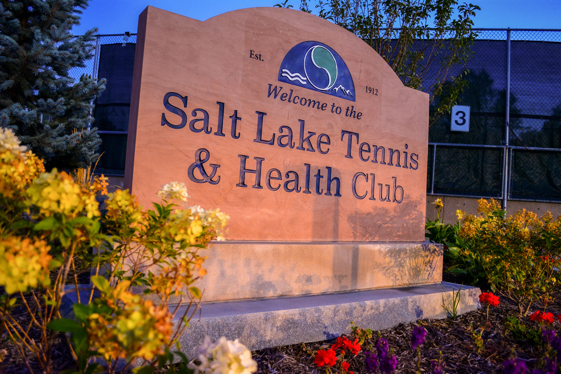 Sign for the Salt Lake Tennis and Health Club