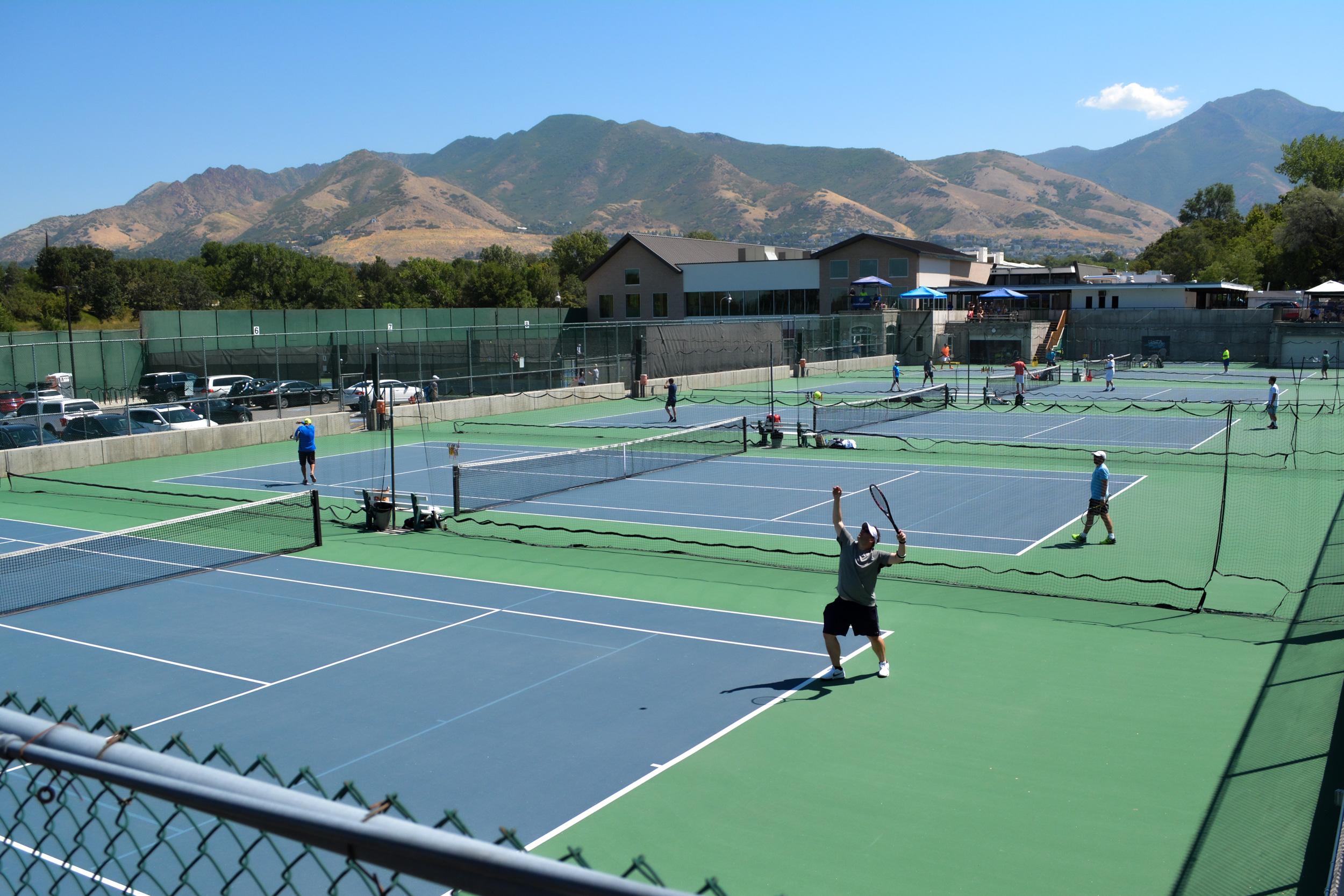 Tournament tennis play at the Salt Lake Tennis and Health Club