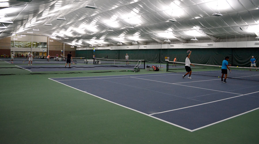 Indoor tennis at SLTHC