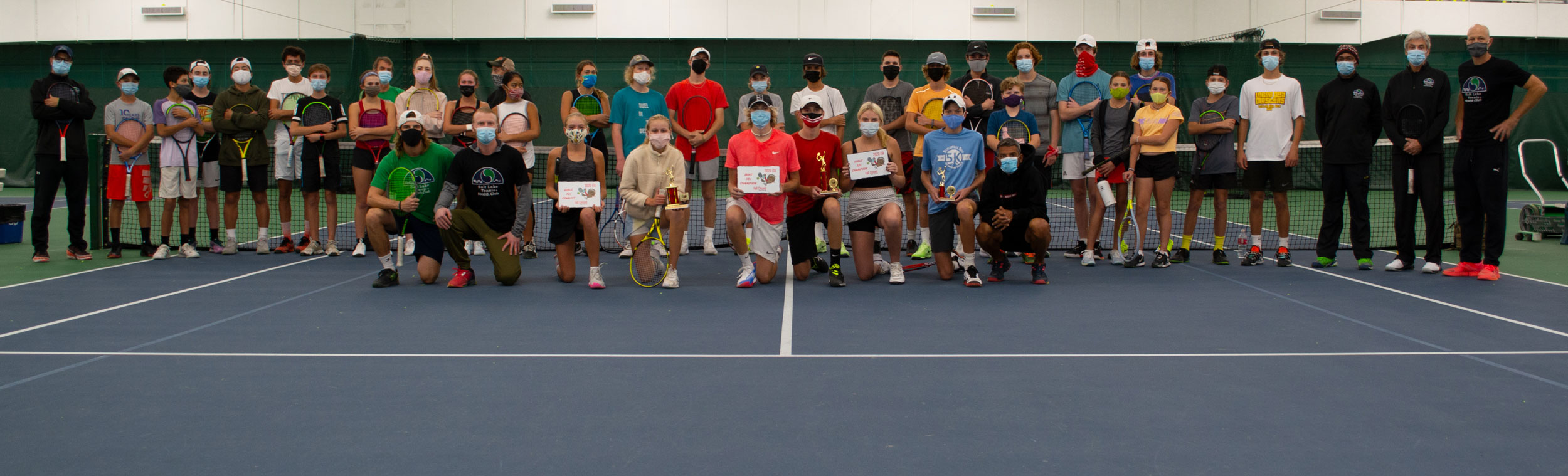 Junior Tennis Coaches and Students